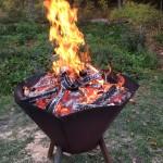 Elda i Biokolbrännaren